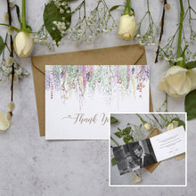 Load image into Gallery viewer, Personalised Photo Whimsical Spring Thank You Cards