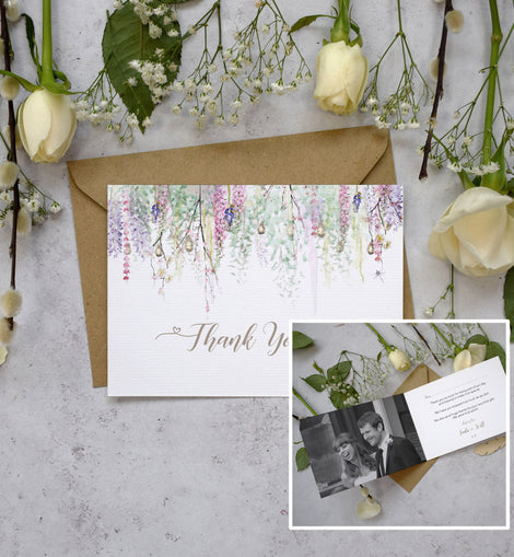 Personalised Photo Whimsical Spring Thank You Cards