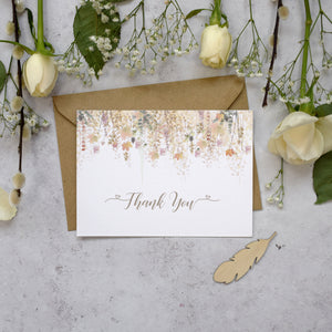 Whimsical Autumn Thank You Postcards