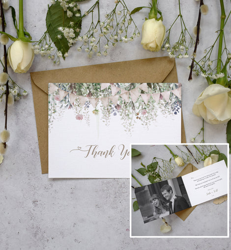 Personalised Photo Whimsical Barn Thank You Cards