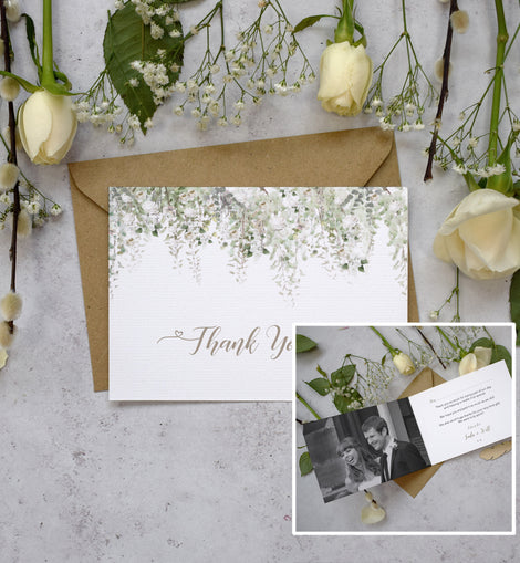 'Whimsical Windsor' wedding thank you cards
