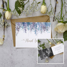 Load image into Gallery viewer, Personalised Photo Whimsical Winter Thank You Cards