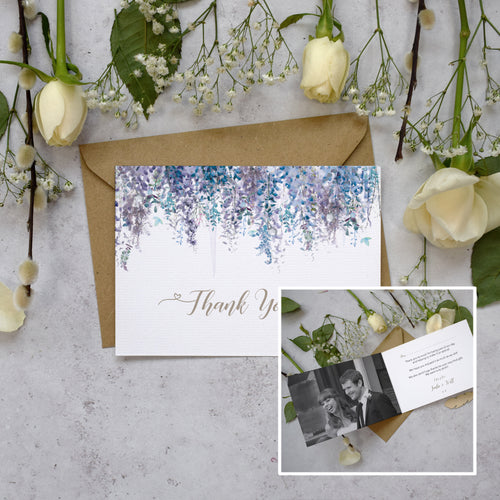 Personalised Photo Whimsical Winter Thank You Cards