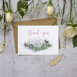Fairytale Blossom Wedding Thank You Postcards