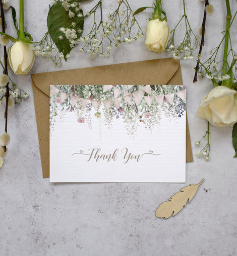 'Whimsical Barn' Wedding Thank You Cards