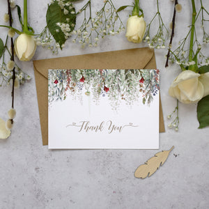 Personalised Photo Whimsical Noel Thank You Cards