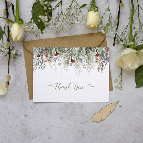 'Whimsical Noel' Wedding Thank You Cards