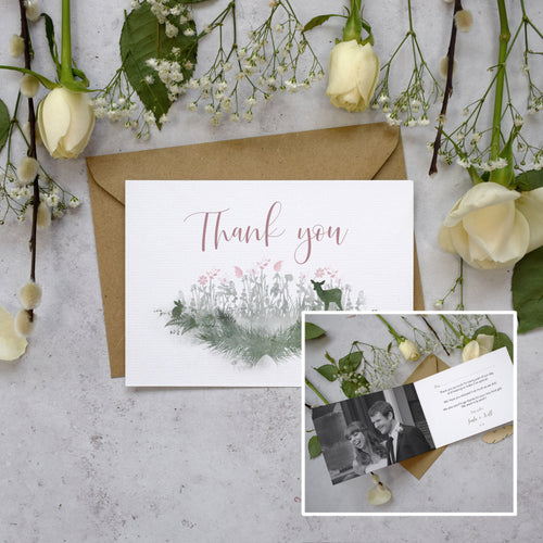 Personalised Photo Fairytale Blossom Thank You Cards