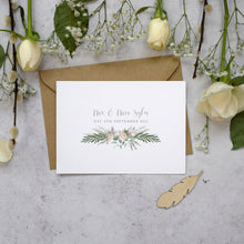 Load image into Gallery viewer, Personalised Photo Foliage Blush Thank You Cards