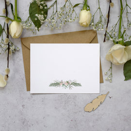 reverse of 'Foliage Blush' thank you card