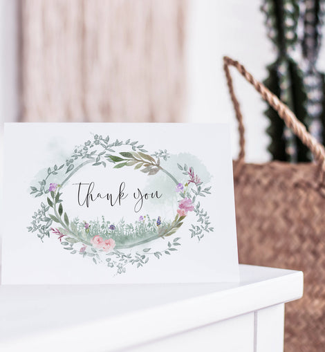 Secret Garden Wedding Thank You Postcards