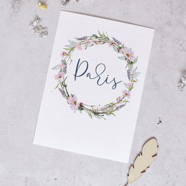 'Whisper' Wedding Table Name Cards