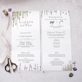 details on our 'Whisper' wedding invites