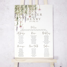 'Whisper' Wedding Table Plan
