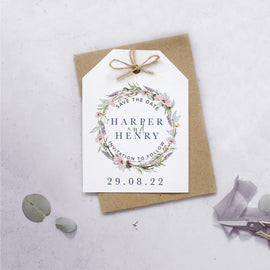 wedding save the date cards for a rustic wedding