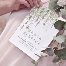 'Whisper' Wedding Program for rustic weddings