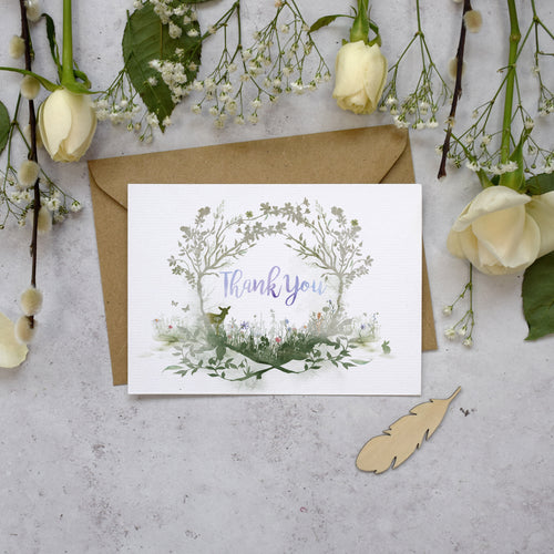 Wildflower Thank You Postcards