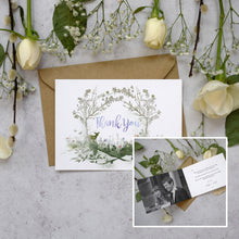 Load image into Gallery viewer, Personalised Photo Wildflower Thank You Cards