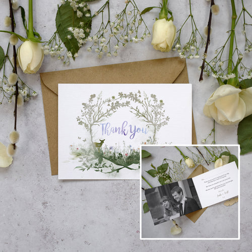 Personalised Photo Wildflower Thank You Cards