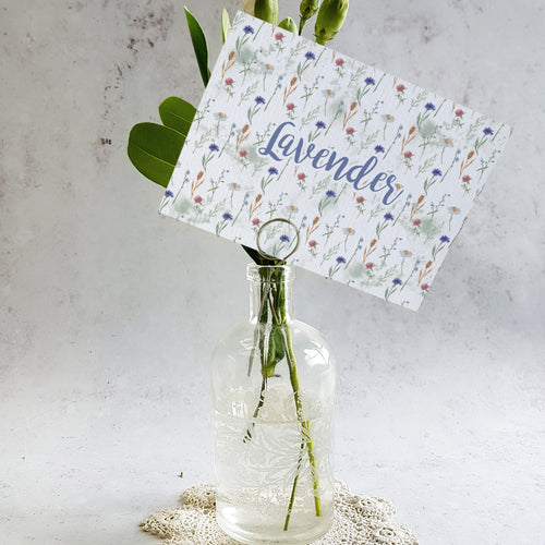 'Wildflower' Wedding Table Name Cards