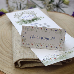 'Wildflower' Wedding Place Cards