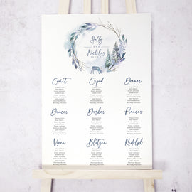 Christmas Wedding Table Plan