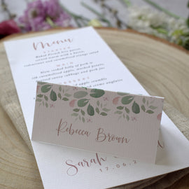 'Fairytale Blossom' rustic wedding place cards