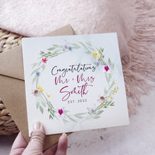 Load image into Gallery viewer, 'Flower Press' Wedding Congratulations card