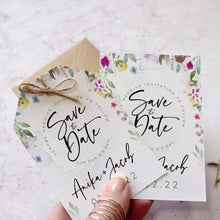 Load image into Gallery viewer, Flower Press Save the Dates