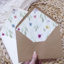 Load image into Gallery viewer, DIY wedding envelope liners in modern floral style