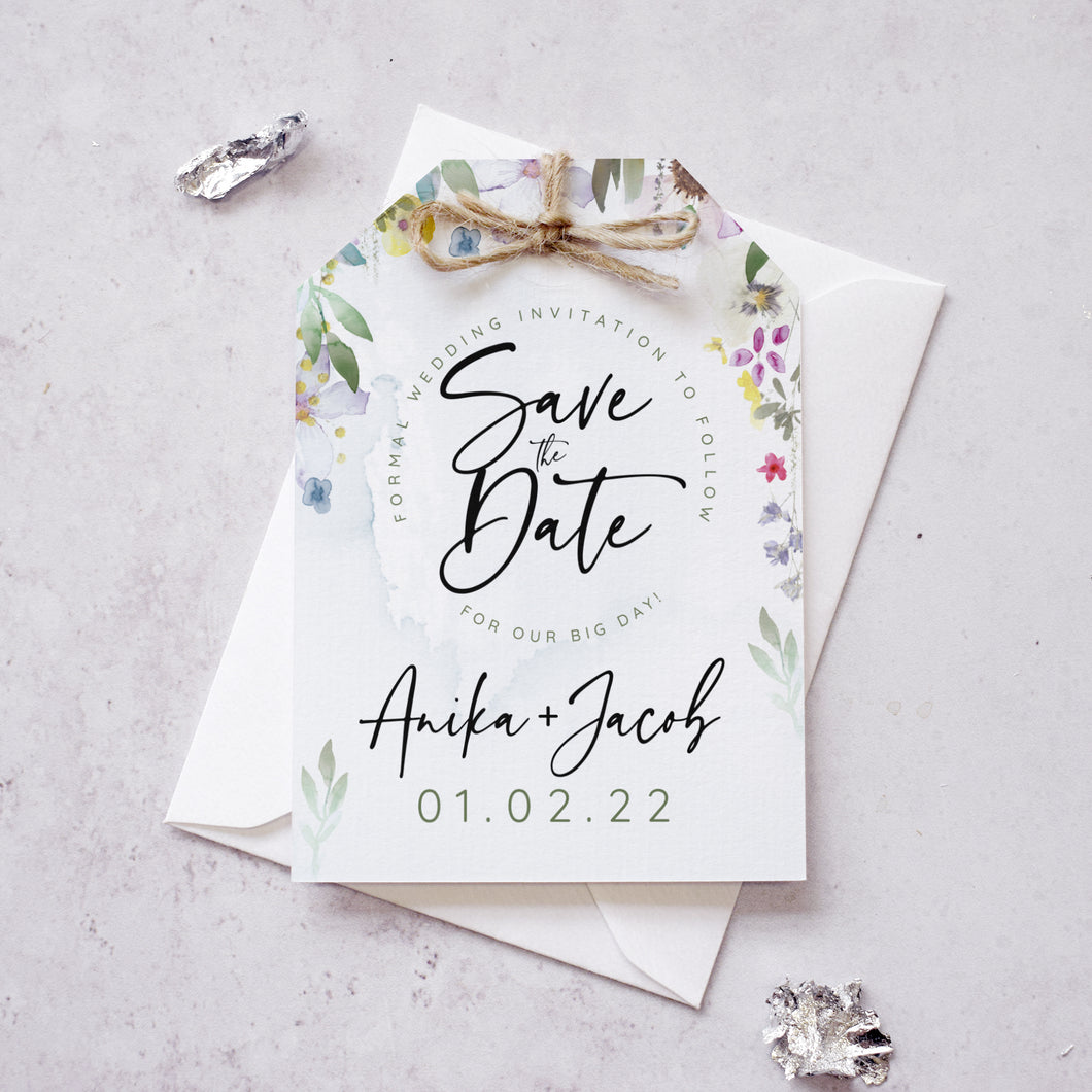 Flower Press Save the Dates