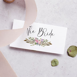 'Secret Garden' Personalised Wedding Place Cards
