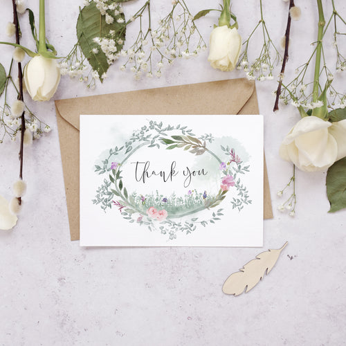 Personalised Photo Secret Garden Thank You Cards