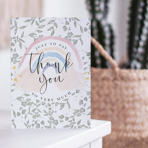 Rainbow Thank You Card - keyworker card UK