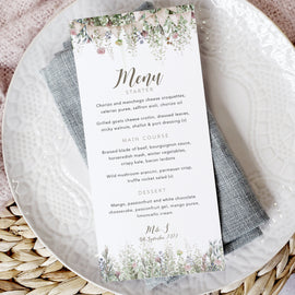 'Whimsical Barn' Personalised Wedding Menu Cards