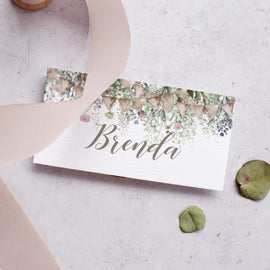 'Whimsical Barn' Wedding place cards