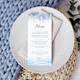 wedding menu cards for a destination wedding