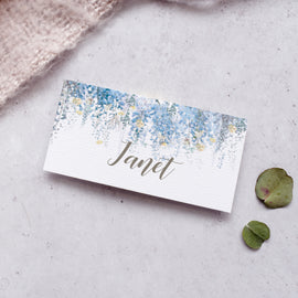 'Whimsical Coast' wedding place cards