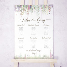 'Whimsical Spring' Wedding Table Plan
