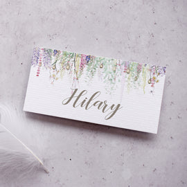 'Whimsical Spring' personalised wedding  place cards