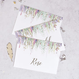 'Whimsical Spring' Wedding Table Name Cards