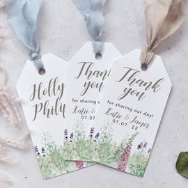 Whimsical Spring wedding favour tags