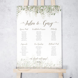 'Whimsical Windsor' Wedding Table Plan