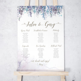 'Whimsical Winter' winter wedding table plan