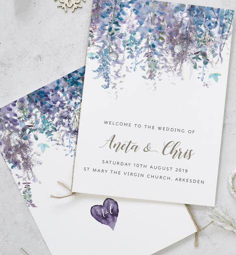Whimsical Winter Wedding Order of Service