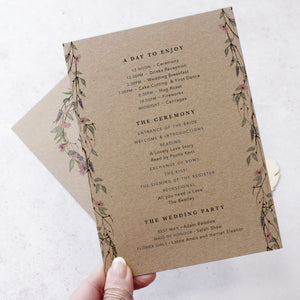 wedding order of the day for rustic weddings