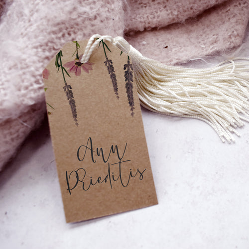 'Whisper Kraft' Personalised Wedding Favour Tags