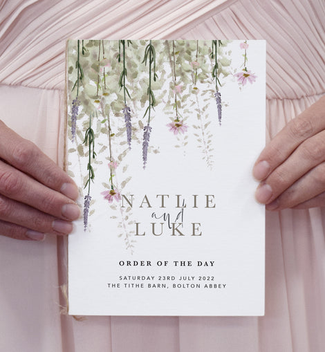 Rustic wedding program from our