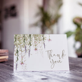 'Whisper' Wedding Photo Thank You Cards
