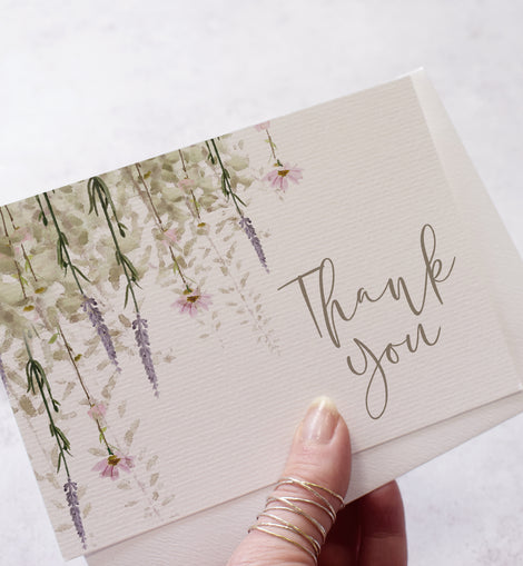 'Whisper' Wedding Thank You Cards